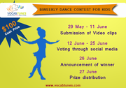 Vocab Tunes' Biweekly Dance Contest 2017—Learn and Win $100